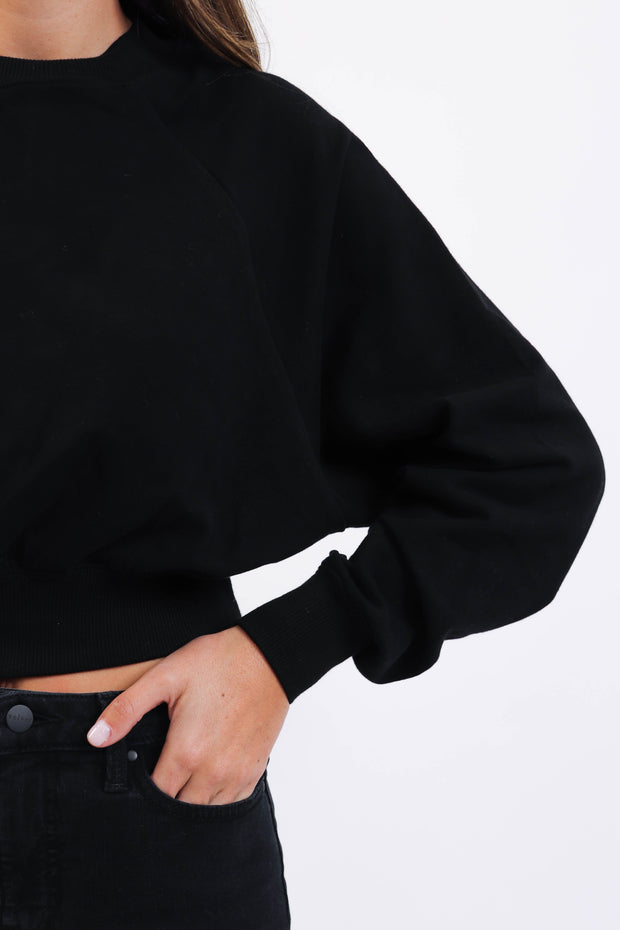 Cropped Black Sweatshirt