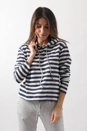 Terry Striped Hoodie
