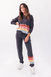 Charcoal Tie Dye Lounge Set