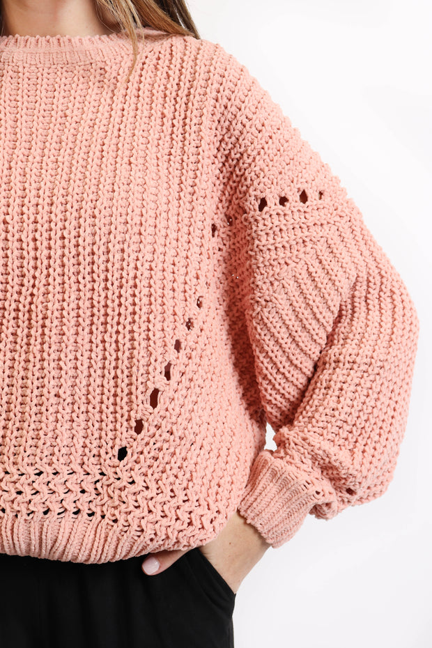 Coral Knit Sweater