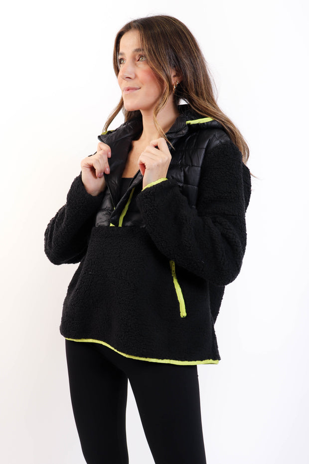 Black Fleece Half-Zip