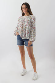 Floral Babydoll Blouse