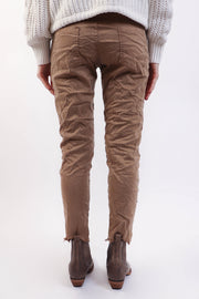 Camel Crinkle Pant