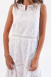 Cotton Eyelet Dress