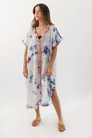 Sky Blue Tie Dye Cover Up