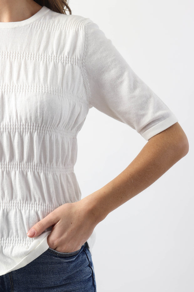 Ruched Short Sleeve Knit