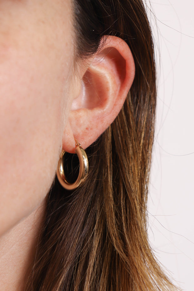 10K Gold Large Hoops