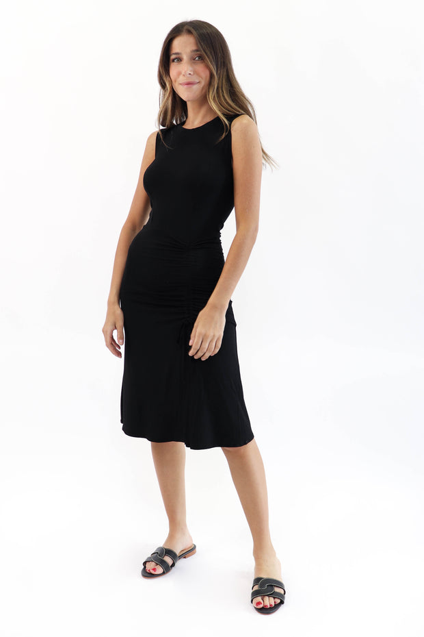 Cinched Side Tank Dress