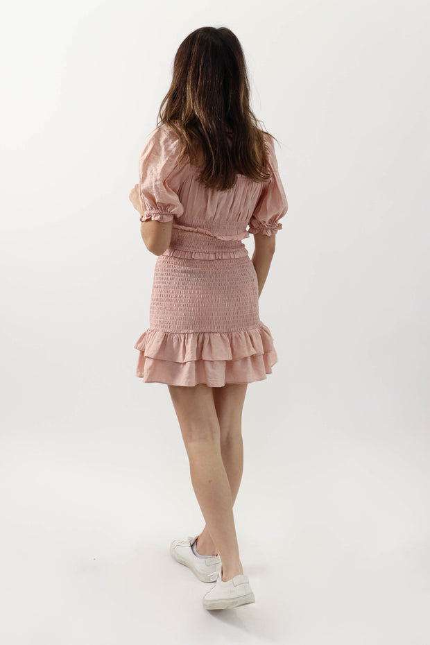 Light Pink Smocked Dress
