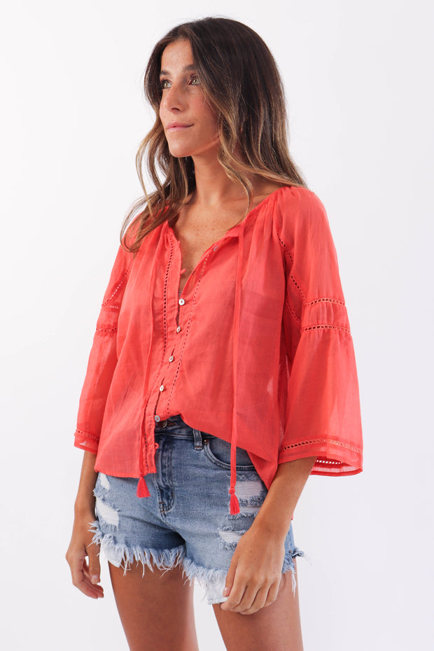 Lightweight Button Down Blouse