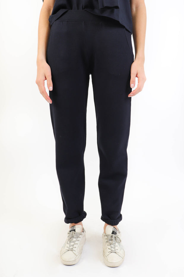 Navy Organic Fleece Jogger