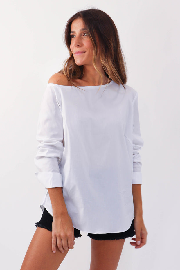 Riri Cotton Off Shoulder Blouse