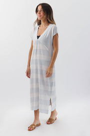 Stripe Beach Cover Up