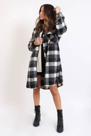 Long Plaid Jacket