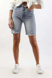 Longer Denim Short