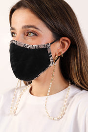 Snakeskin Trim Face Mask
