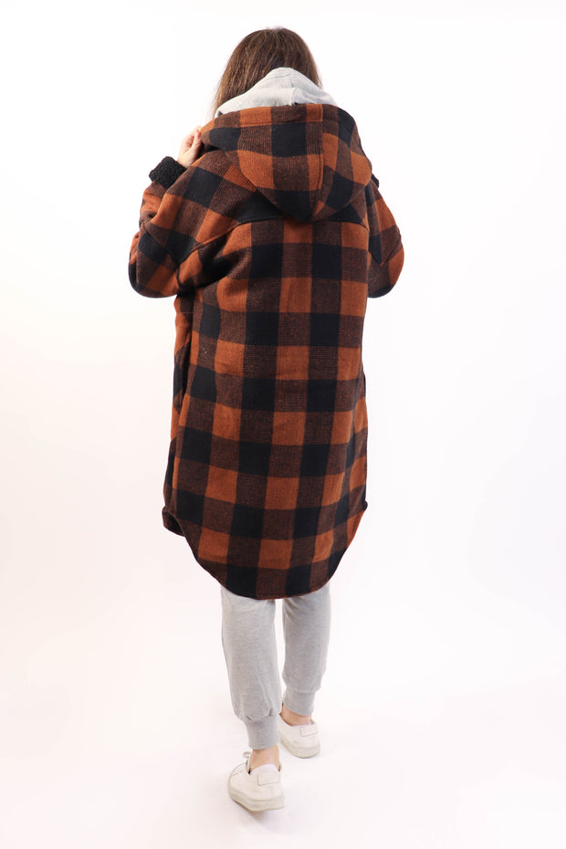 Brown Plaid Lumber Jacket