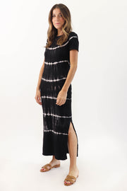 Dark Tie Dye T-Shirt Dress