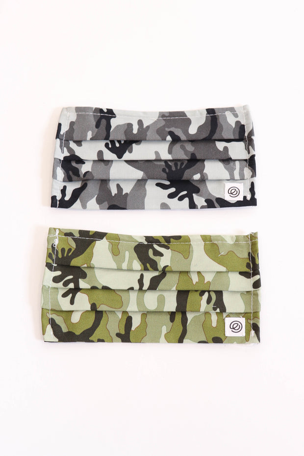 Non-Medical Grade Camo Accordion Face Masks