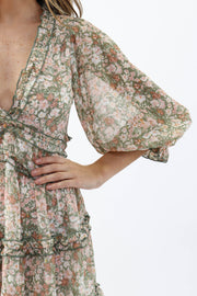Spring Flowers Mini Dress