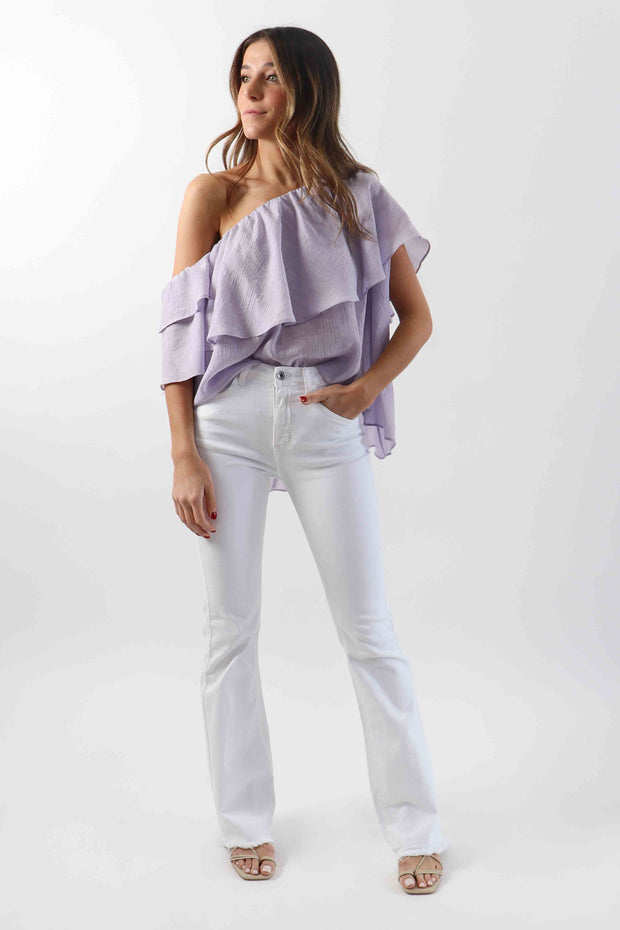 One-Shoulder Blouse