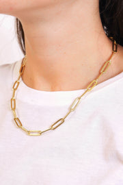 Thick Paperclip Necklace