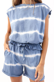 Blue Tie Dye Short Set