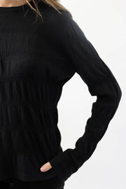 Ruched Long Sleeve Knit