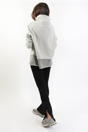 Grey Terry Cowl Neck Sweatshirt
