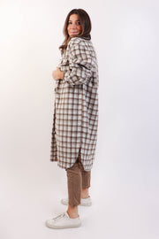 Oversized Pastel Plaid Coat