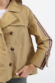 Cropped Trench Jacket