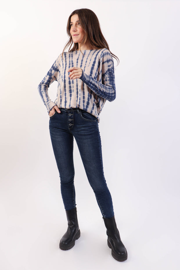 Skinny Button Fly Jean