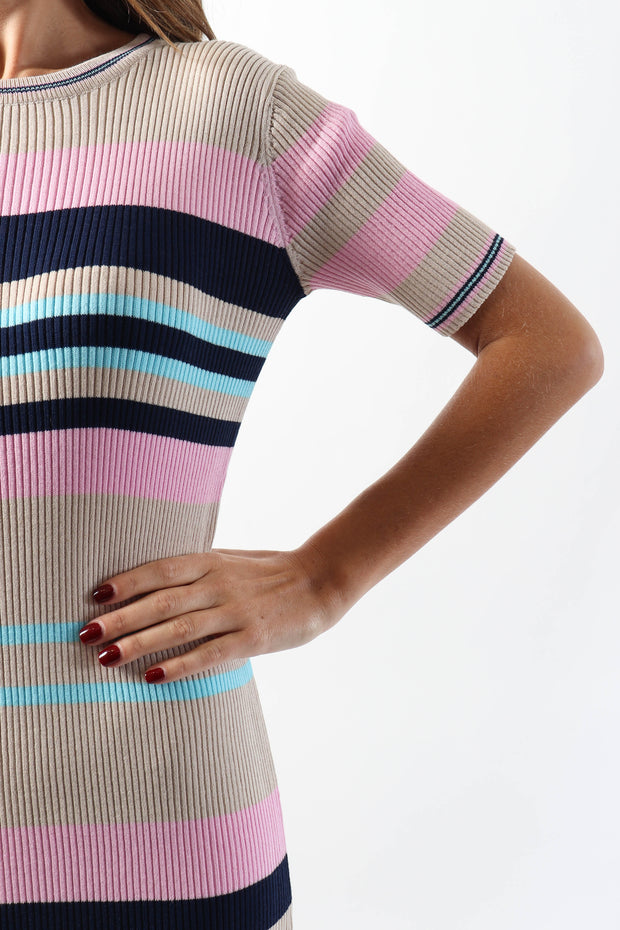 Candy Floss Ribbed Dress