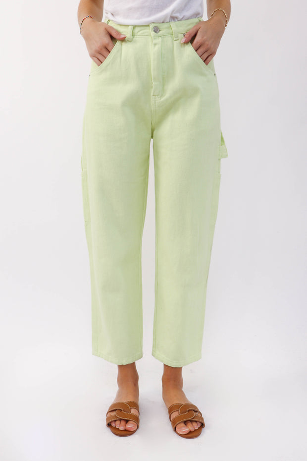 Lime Painter Pant
