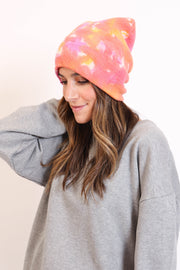Orange Tie Dye Hat
