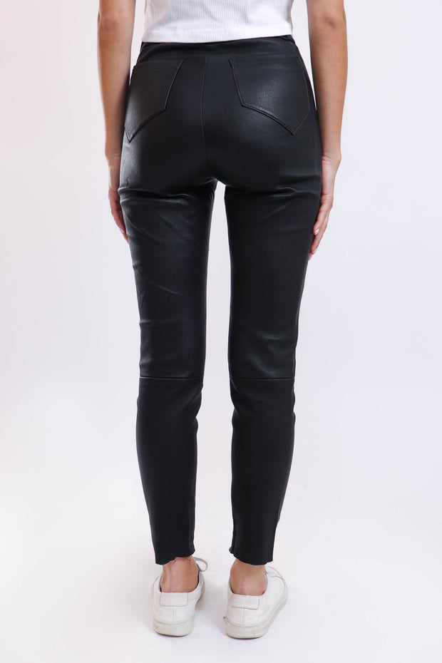High-Waisted Leather Pants