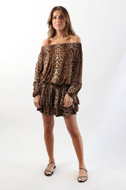 Leopard Print Beach Dress