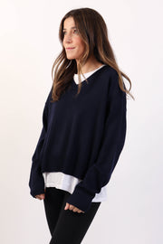 Navy Classic Knit