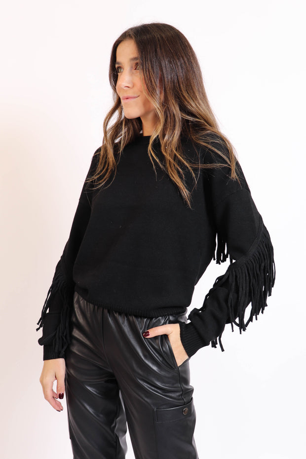 Soft Fringe Sweater