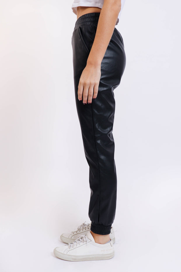 Pleather Jogger