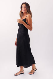 Zebra Silk Slip Dress