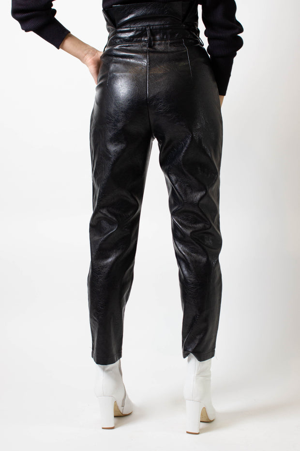 Pleather Paperbag Pants