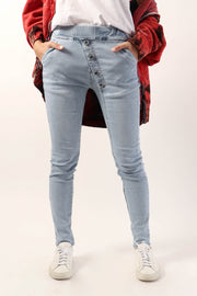 Angled Fly Skinny Denim