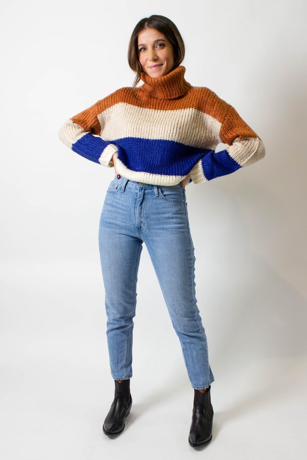 Colour Block Turtleneck