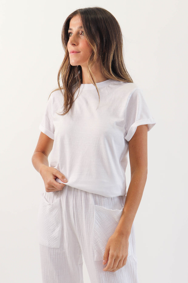 Cuffed Organic Cotton T-Shirt