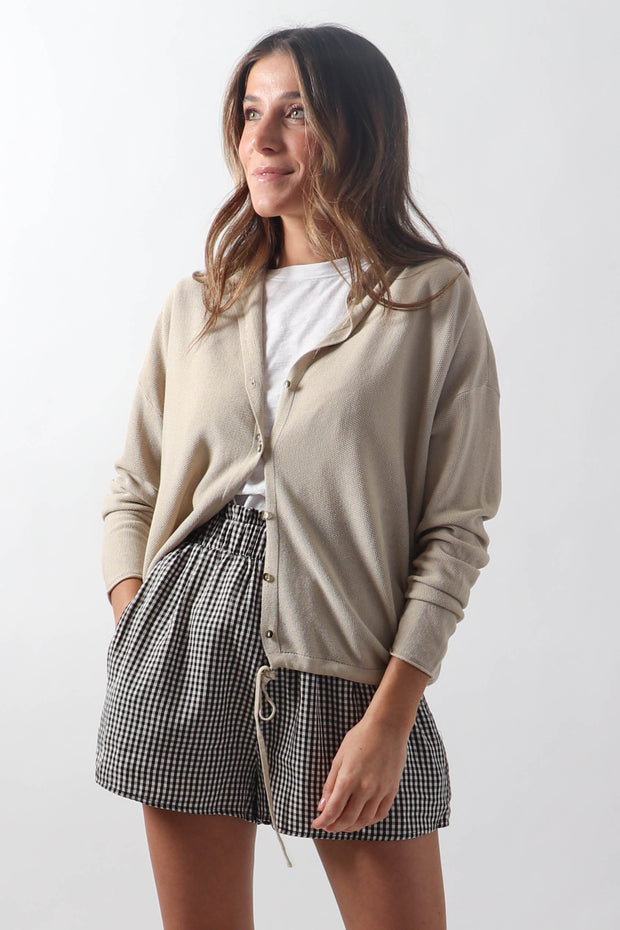 Textured Button-Up Cardi