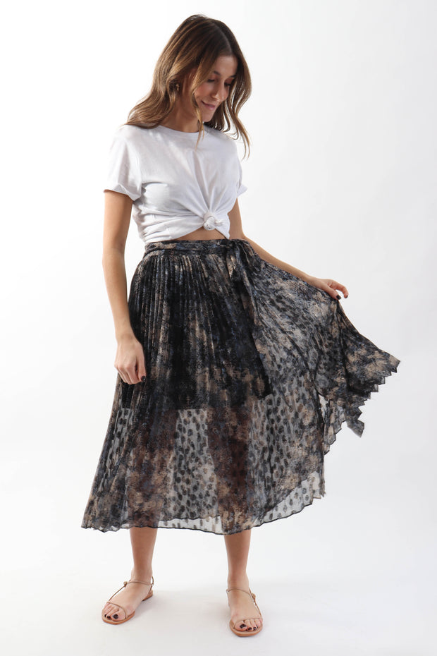 Painted Pleated Skirt
