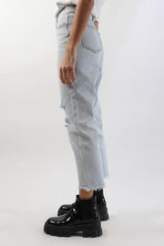 Vintage Wash High-Waisted Denim