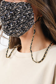Tweed Mask with Chain