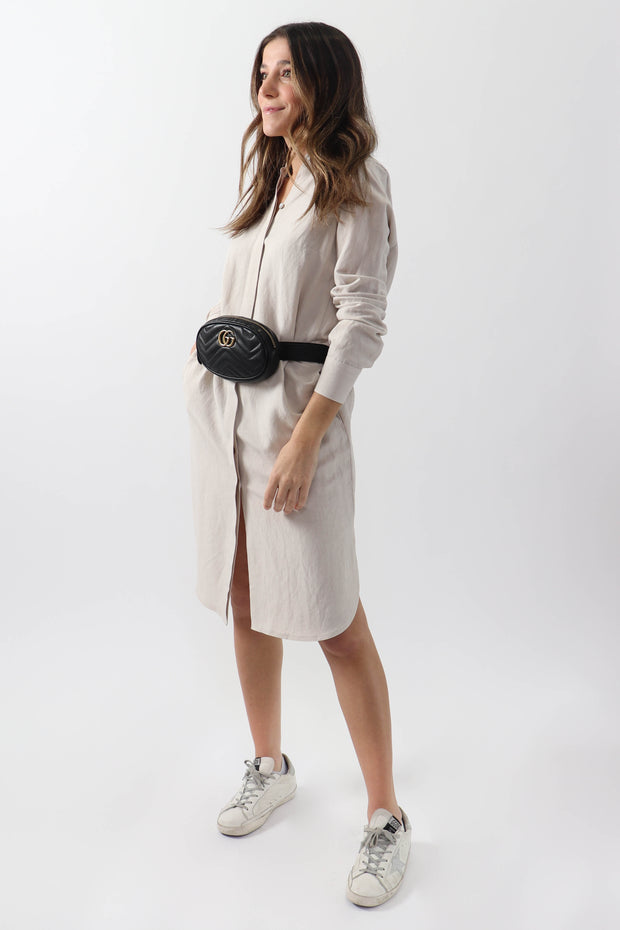 Riri Linen Shirt Dress